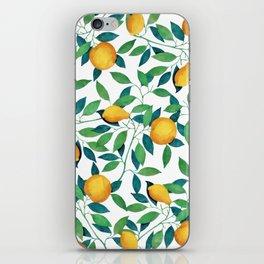 Lemon pattern II iPhone Skin