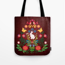 Bunny Of The Flowers Tote Bag