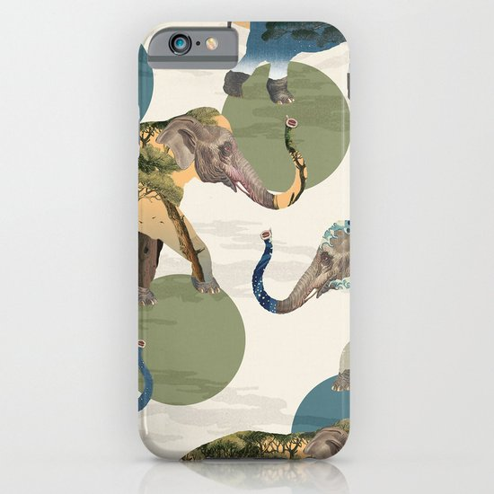 Elephant Polka iPhone & iPod Case