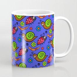 Cartoon Garden Bugs Coffee Mug