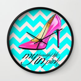 LIFE IN PINK  Wall Clock
