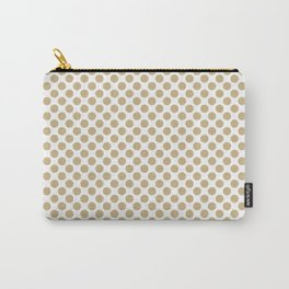 Large Christmas Gold Polka dots on White Carry-All Pouch