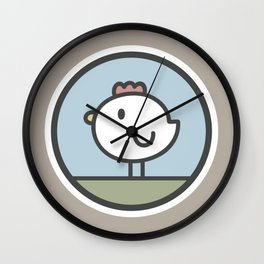 Free Range Chicken Wall Clock