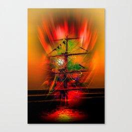 Sailing romance Canvas Print