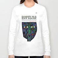 vonnegut Long Sleeve T-shirts featuring Vonnegut - Canary in a Cat House by Neon Wildlife