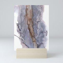 Gray Abstract monochromatic slush Mini Art Print