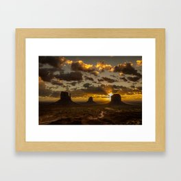 Monument Valley - Vivid Sunrise Framed Art Print