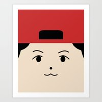 exo Art Prints featuring Baekhyun EXO Mascot by teawithgodot