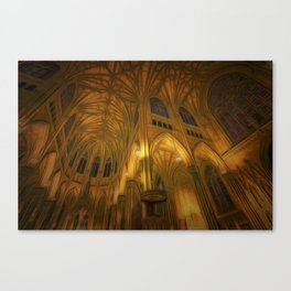 Cathedral Golden Light Canvas Print