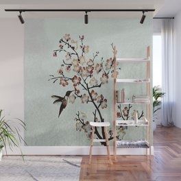 Delicate humming-bird Wall Mural
