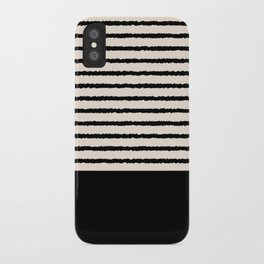 Texture - Black Stripes Blocks iPhone Case