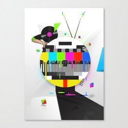 Molten Colour Bars Canvas Print
