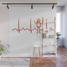 Anesthesiologist Heartbeat Wall Mural