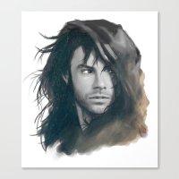 kili Canvas Prints featuring Kili BnW by brilcrist