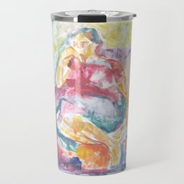 Woman in an armchair 3 watercolor Travel Mug