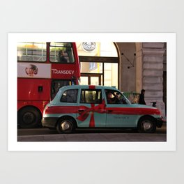 Tiffany Taxi Art Print