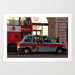 Tiffany Taxi Art Print