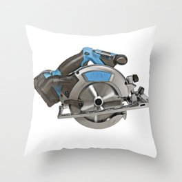 Saw Cut Abrasive Disc Blade Rotary Motion Spinning Throw Pillow
