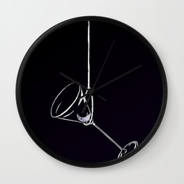 here's to drinks in the dark at the end of my rope Wall Clock