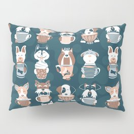 Doggie Coffee and Tea Time II Pillow Sham