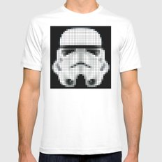 Stormtrooper : 8 Bit Pixel White MEDIUM Mens Fitted Tee