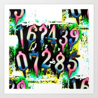 numbers Art Prints featuring Numbers! by gasponce