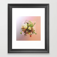 Cubic Bouquet Framed Art Print
