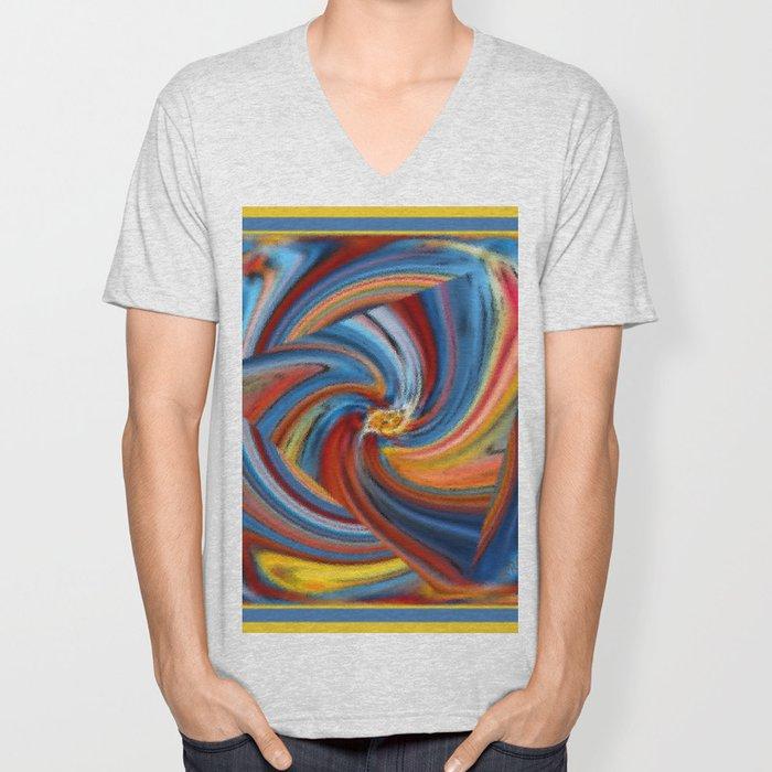 Colorful Waves Unisex V-Neck