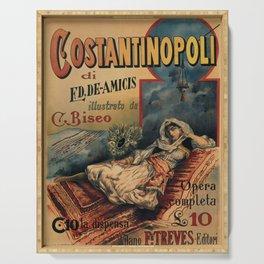 Constantinople Italian vintage book advertisement Serving Tray