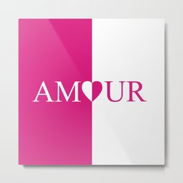 Amour Pink Design Metal Print