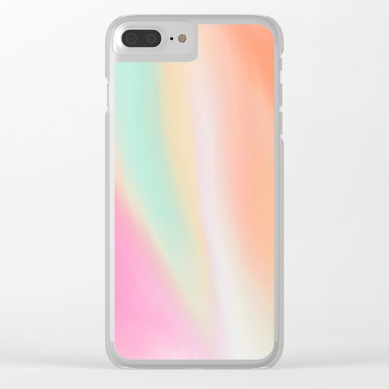 Digital painted texture illustration, pastel soft colors Clear iPhone Case