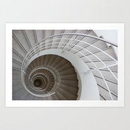 the spiral (architecture) Art Print