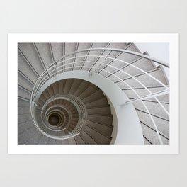 the spiral (architecture) Art Print