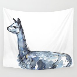 Vicuna Watercolor Sketch Wall Tapestry