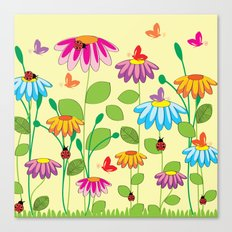 colorful meadow Canvas Print