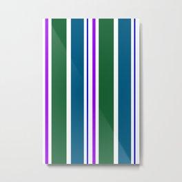 Stripes in colour 3 Metal Print