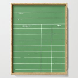Library Card BSS 28 Negative Green Serving Tray