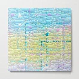 Multi Pastel Quilted Pattern Design Metal Print