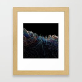 glitch waves Framed Art Print