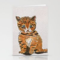 whisky Stationery Cards featuring Whisky, the Kitty by Gersin@Albatrostudio