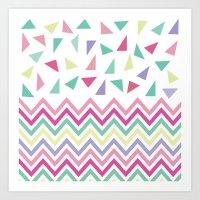 confetti Art Prints featuring Confetti  by Bree Madden