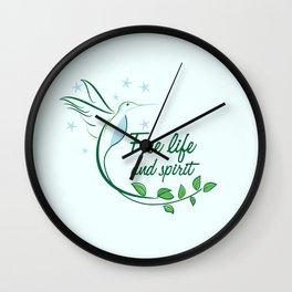 Hummingbird Free Life Quote Wall Clock