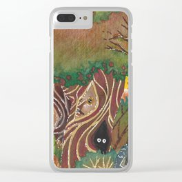 sylvan forest Clear iPhone Case