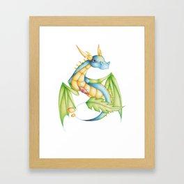 BlueLeaf Framed Art Print