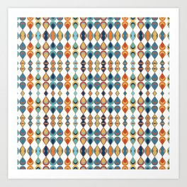 Mid Century Drop Pattern Art Print