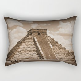 Chichen Itza Sepia Rectangular Pillow