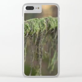 Moss on a branch Clear iPhone Case