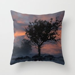 Frosty Sunrise At Chasewater Country Park Throw Pillow