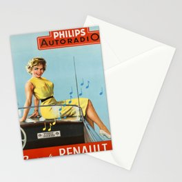 affiche philips autoradio dans votre Stationery Cards