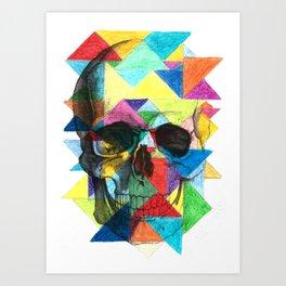 Triangle Skull Art Print